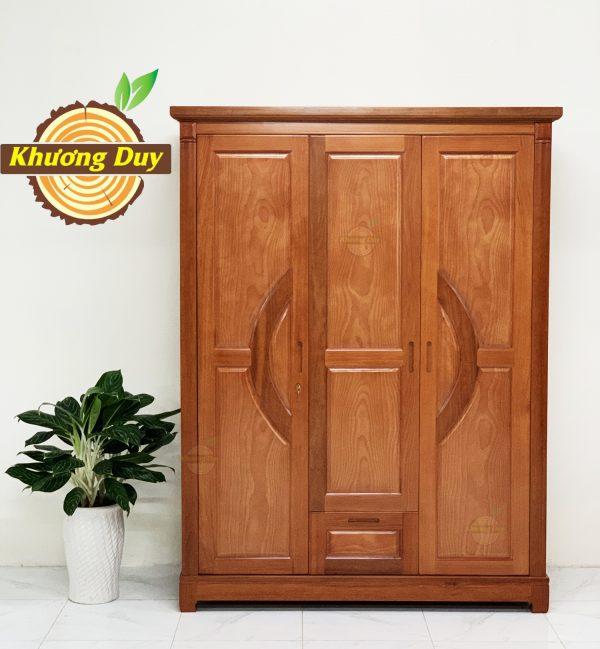 tủ quần áo gỗ xoan đào 1m6