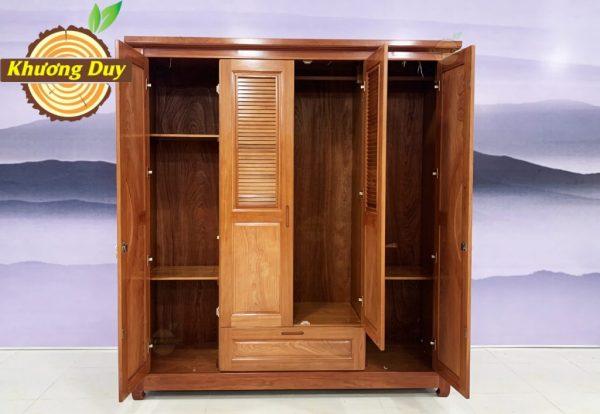 tủ quần áo gỗ xoan đào 1m8