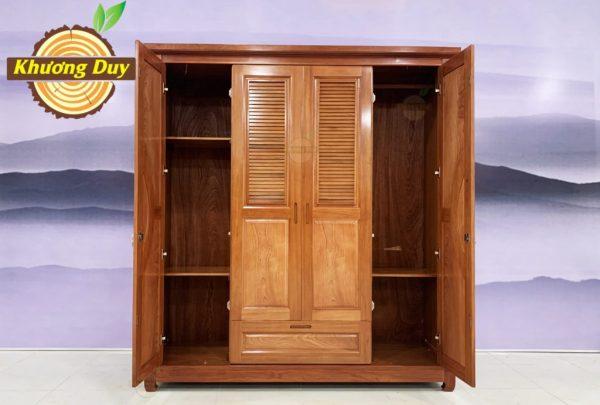 tủ quần áo gỗ xoan đào 2m giá rẻ