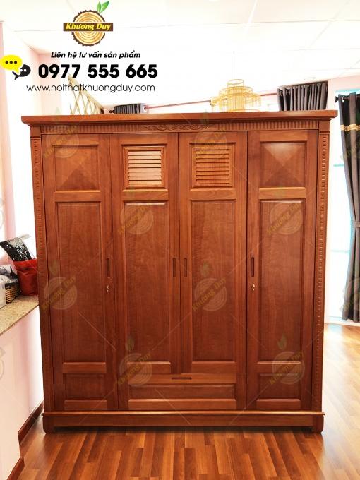 tủ quần áo gỗ tự nhiên 1m8