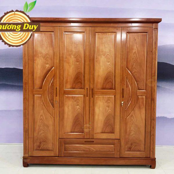 tủ áo quần gỗ xoan đào 1m8