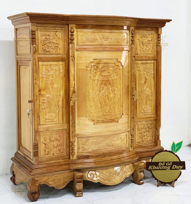 tủ thờ gỗ gõ gõ đỏ giá rẻ