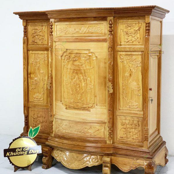 tủ thờ gỗ gõ đỏ tự nhiên