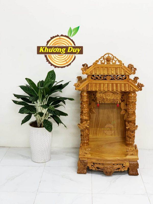 tủ thờ thần tài gỗ gõ đẹp