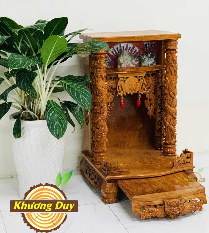 tủ thờ thần tài gỗ gõ đỏ