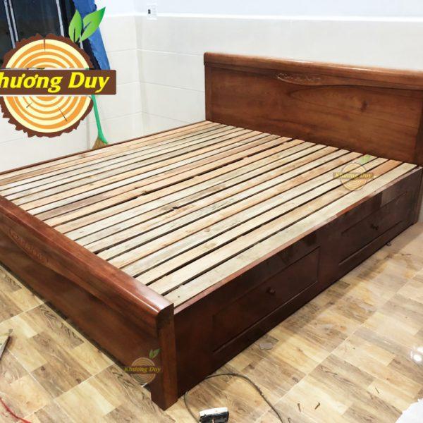giường ngăn kéo gỗ tự nhiên