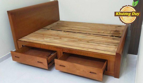 giường ngăn kéo gỗ xoan