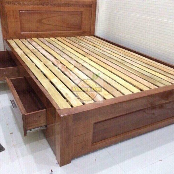 giường ngăn kéo gỗ xoan đào