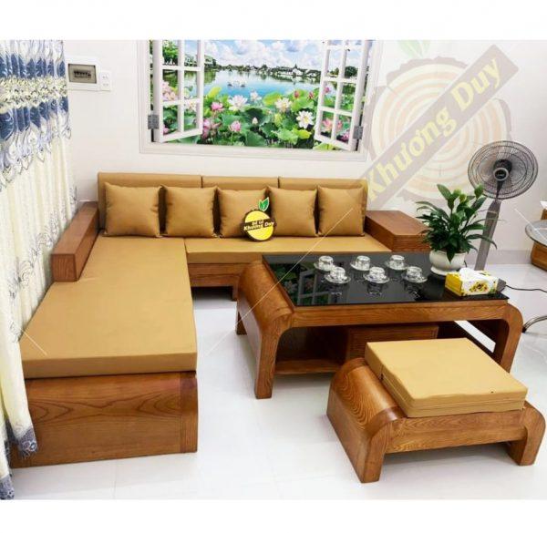 sofa gỗ góc chữ L