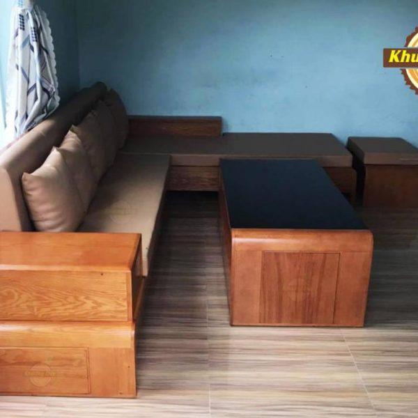 sofa góc gỗ giá rẻ