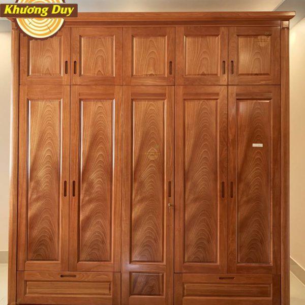 tủ quần áo gỗ xoan đào 2 tầng