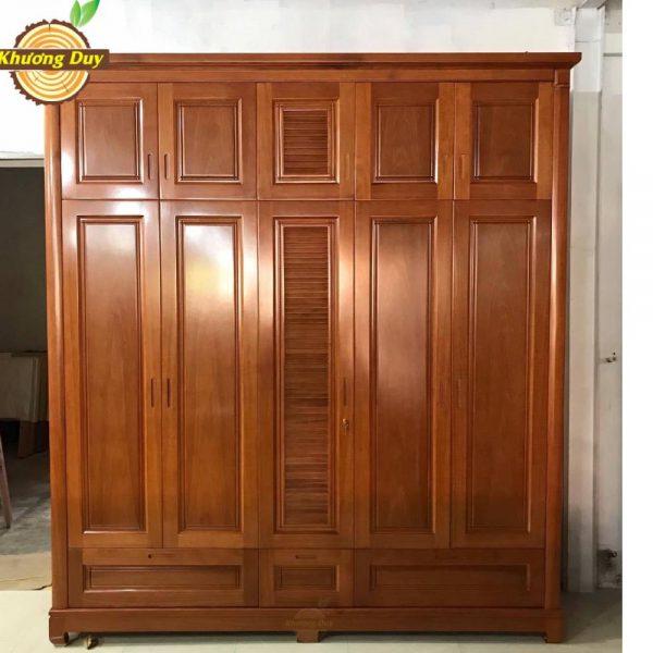 tủ quần áo 2 tầng gỗ tự nhiên