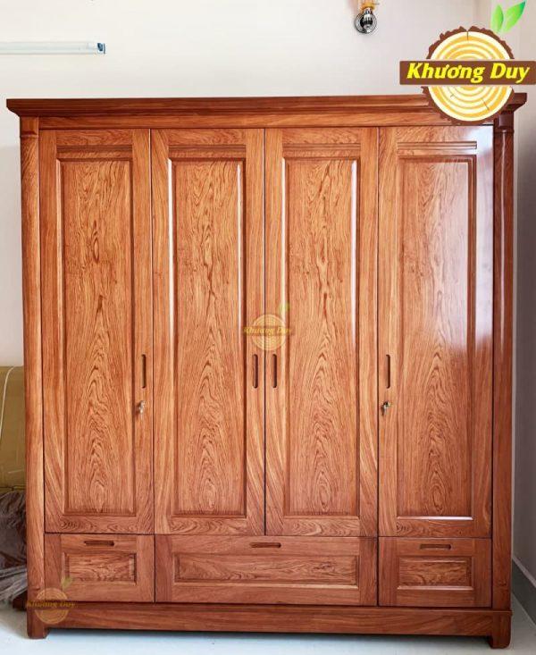 tủ quần áo gỗ hương đá