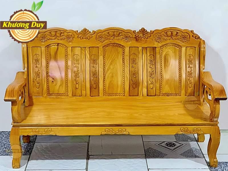 sofa phòng khách gỗ gõ đỏ