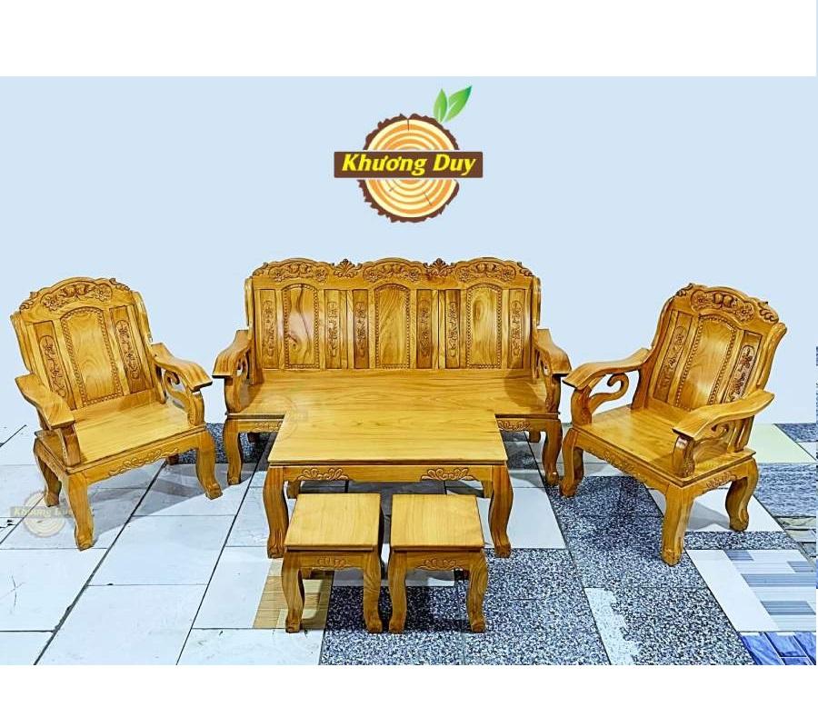 bộ bàn ghế phòng khách gỗ gõ đỏ