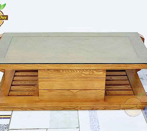 sofa góc gỗ sồi