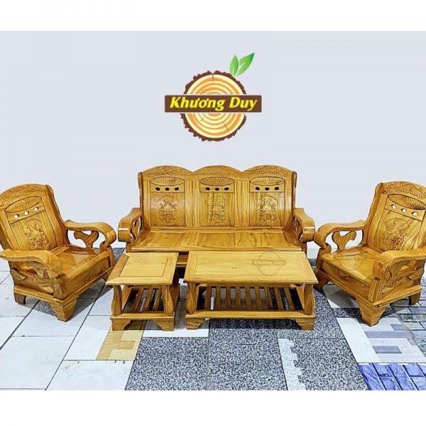 bộ sofa gỗ gõ đỏ phòng khách