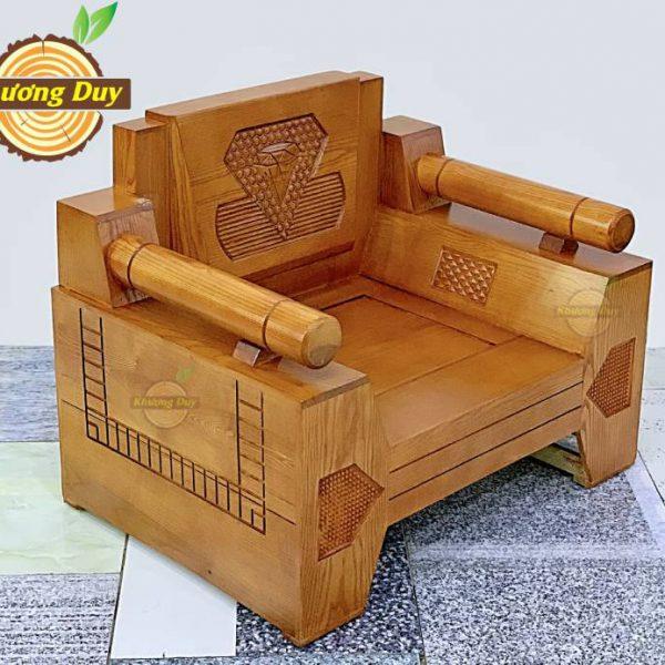 sofa phòng khách gỗ sồi