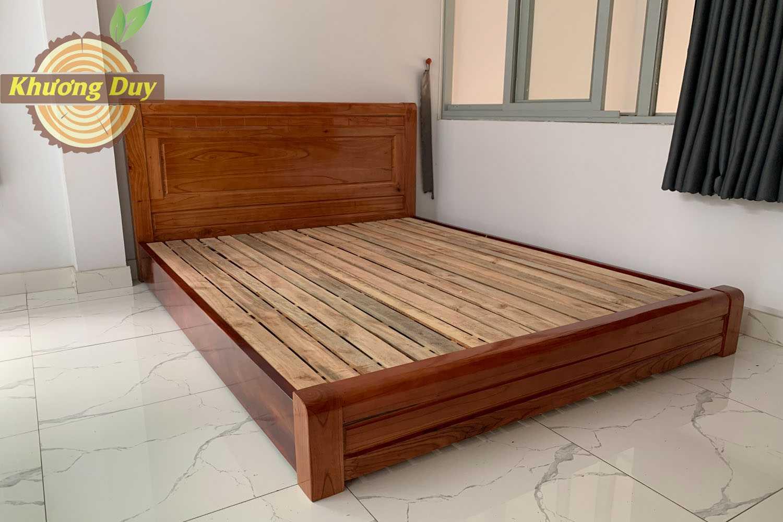 giường gỗ xoan đào sát đất