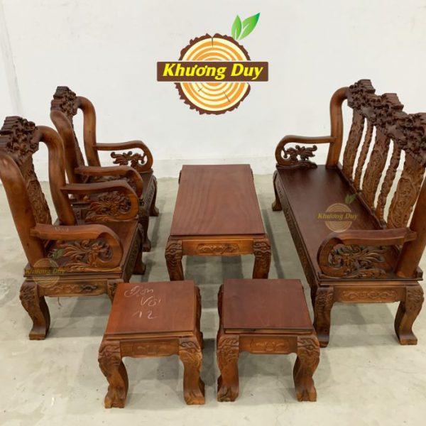 bộ salon gỗ phòng khách giá rẻ