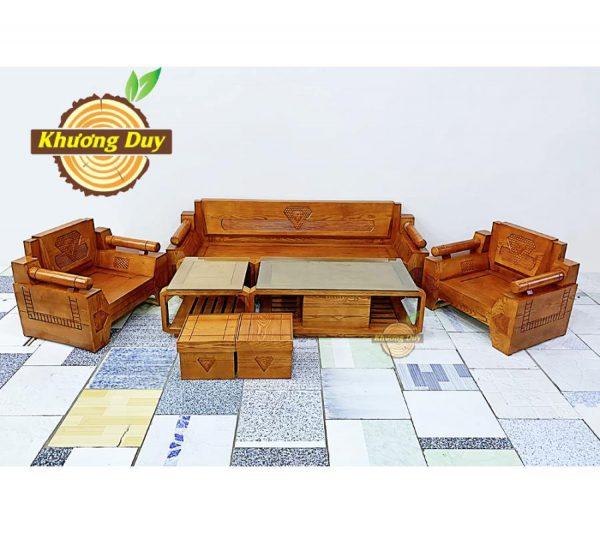 sofa gỗ sồi giá rẻ tphcm
